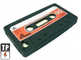 Silicone Bescherm-Hoes voor iPhone 4 en 4S  Tape Zwart
