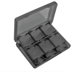 Opberg-Box voor 24 Nintendo 3DS - Dsi - DS Lite Game-Cards. Zwart