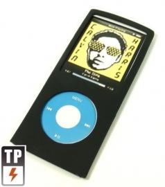 Silicone Bescherm-Hoes Skin voor  iPod Nano 4G 4   Zwart