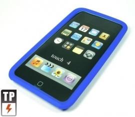 Silicone Bescherm-Hoes voor iPod Touch 4 4G   Blauw