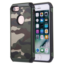iPhone 7 of 8   Tough Armor-Case Bescherm-Cover Hoes - Camouflage Groen