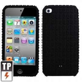 Silicone Bescherm-Hoes voor iPod Touch 4 4G   Zwart  *