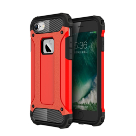 iPhone 8 - Hybrid Tough Armor-Case Bescherm-Cover Hoes - Rood