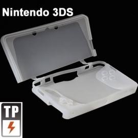 Silicone Bescherm-Hoes Skin voor Nintendo 3DS  Wit   Nieuw