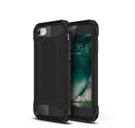 Hybrid Armor-Case Bescherm-Cover Hoes voor iPhone SE 2020. Zwart