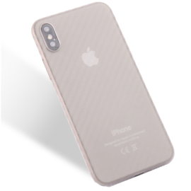 Slim Carbon Bescherm-Hoes Skin  voor iPhone X - XS   Transparant