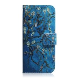 Luxe Bescherm-Etui Hoes voor Samsung Galaxy S10E  - Van Gogh Amandelbloesem