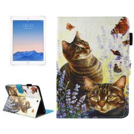 """Bescherm-Opberg Hoes Map voor iPad 9.7 -   """"Cats"""""""