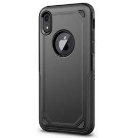 Luxe Bescherm-Cover Hoes Skin  voor iPhone XR   Zwart