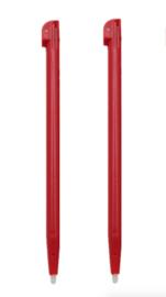 2x Stylus pen voor Nintendo DSi XL - Rood