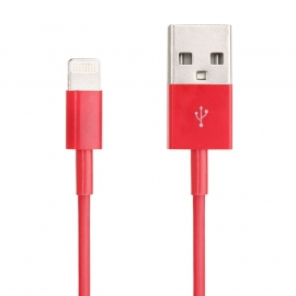 Lightning USB Data en Oplader Kabel voor iPhone 5 en 5S  Rood