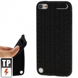 Silicone Bescherm-Hoes Skin voor iPod Touch 5G - 6G Tyre Zwart