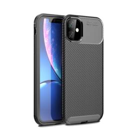 Luxe TPU Carbon  Bescherm-Hoes  voor iPhone 11     Zwart