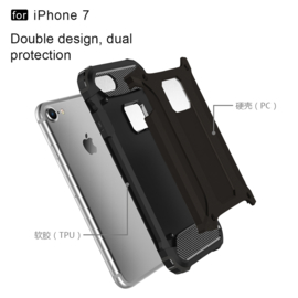 Hybrid Tough Armor-Case Bescherm-Cover Hoes voor iPhone 7 of 8