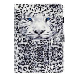3D Snow Tiger - Bescherm-Etui Map voor iPad 10.2 - iPad Air 10.5