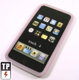 Silicone Bescherm-Hoes voor iPod Touch 4 4G   Roze