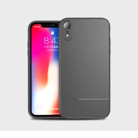 Slim Carbon Bescherm-Hoes Skin  voor iPhone XR   Grijs