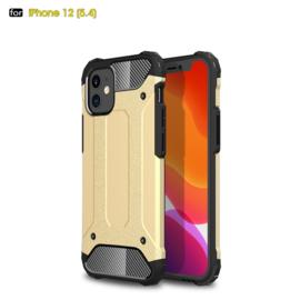 Sterke Armor-Case Bescherm-Cover Hoes voor iPhone 12 Mini -  Goud