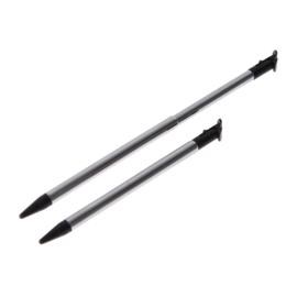 2x Inschuifbare Aluminium Stylus Pen voor New Nintendo 3DS XL