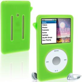 Silicone Bescherm-Hoes Skin voor iPod Classic   10,5mm  Groen