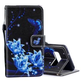 Luxe Boek Case - Bescherm-Etui  voor Samsung Galaxy S10 - Flower-Vlinder