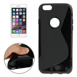 TPU Flex Bescherm-Hoes Skin Sleeve voor iPhone 6 - 6S Plus  Zwart