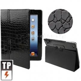 Bescherm-Opberg Hoes Etui Pouch voor Apple iPad 4 Zwart-Glans