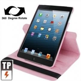 360º PU Bescherm-Cover Hoes Etui voor iPad Mini Roze 1 - 2 - 3