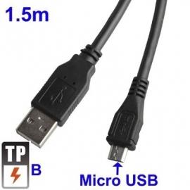 USB 2.0 - Micro USB Laad en Data Kabel 1,5 meter