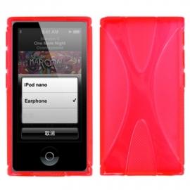 TPU Flex Bescherm-Cover Hoes Skin Hoesje voor iPod Nano 7 7G Rood