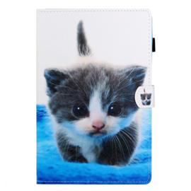 """Luxe Bescherm-Etui Map voor Samsung Galaxy Tab A7 Lite 8.7    """"Cute Cat"""""""