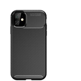 Luxe TPU Carbon  Bescherm-Hoes Skin  voor iPhone 12  Mini    Blauw