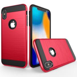 Aluminium-Cover Bescherm-Hoes  voor iPhone XR    Rood