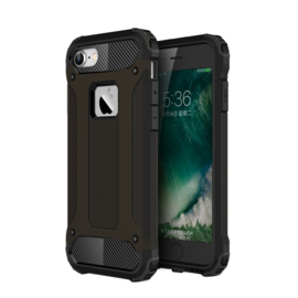iPhone 8 - Hybrid Tough Armor-Case Bescherm-Cover Hoes - Zwart