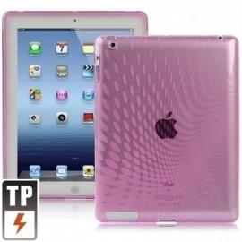 TPU Bescherm- Hoes Cover Skin voor iPad  4 Roze