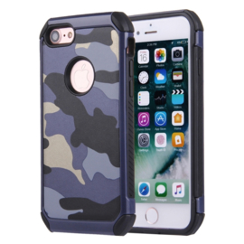 iPhone 7 of 8   Tough Armor-Case Bescherm-Cover Hoes - Camouflage Blauw