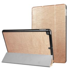 iPad 9.7 -  Bescherm-Cover Hoes Map met Smart Cover  Goud