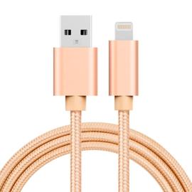Luxe Metalen Lightning Oplader - Data USB Kabel voor iPhone - iPad  100cm Paars