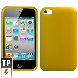 Silicone Bescherm-Hoes voor iPod Touch 4 4G  Geel