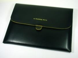 PU-Kunstleer Bescherm-Opberg Hoes Sleeve voor iPad - iPad Air   Zwart-Geel