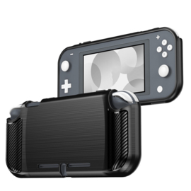 TPU Bescherm Hoes Skin voor Nintendo Switch Lite - Zwart-Carbon
