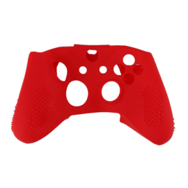 Silicone Hoes / Skin voor XBOX ONE S Controller  Rood