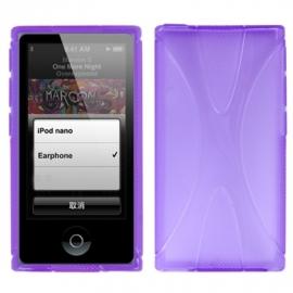 TPU Flex Bescherm-Cover Case Hoes Skin Hoesje voor iPod Nano 7 7G Paars