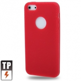 Silicone Bescherm-Hoes Skin Sleeve voor iPhone 5 - 5S Rood  *