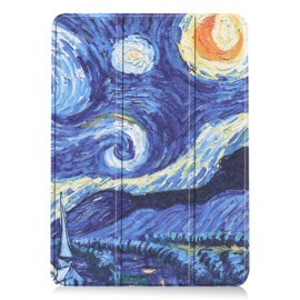 Slim Smart Cover Hoes Map voor iPad Air - 10.9 -  Sterrennacht - Van Gogh. A2316