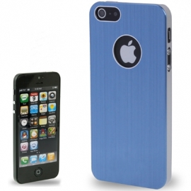 Brushed Aluminium Bescherm-Cover Case Skin voor iPhone 5 - 5S