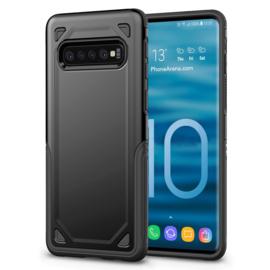 Samsung Galaxy S10 - Sterke  Armor-Case Bescherm-Cover Hoes - Zwart