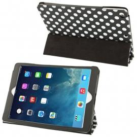Dot Style PU Bescherm-Opberg Etui Hoes voor iPad Air   Zwart