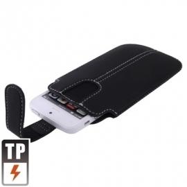 Bescherm-Etui Hoes Pouch Hoesje voor iPhone 5 - 5S Zwart-Wit