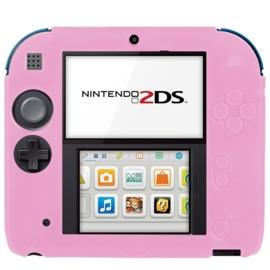 Silicone Bescherm Hoes voor Nintendo 2DS   Roze